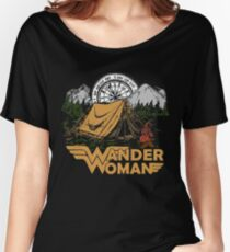 Wander Woman Funny Camping Love Gift for Women T-shirt Relaxed Fit T-Shirt