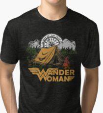 Wander Woman Funny Camping Love Gift for Women T-shirt Tri-blend T-Shirt