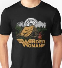 Wander Woman Funny Camping Love Gift for Women T-shirt Unisex T-Shirt