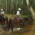 Victoria Policewomen on duty at Noojee Horse Festival, Gippsland by Bev Pascoe