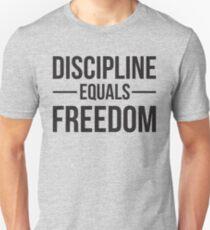 Disziplin entspricht Freiheit Slim Fit T-Shirt