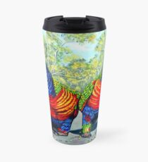 Dinner Date - Rainbow Lorikeets Travel Mug