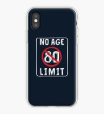 No Age Limit 80th Birthday Gifts Funny B-day for 80 Year Old iPhone Case