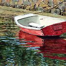 The red boat by Freda Surgenor