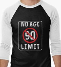 No Age Limit 90th Birthday Gifts Funny B Day For 90 Year Old Mens Baseball