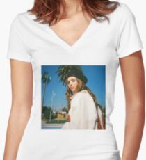 Clairo Women's Fitted V-Neck T-Shirt