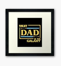 Best Dad In Galaxy Shirt   Fathers Day Gift   Lightsabers   Jedi Framed Print