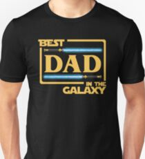 Best Dad In Galaxy Shirt   Fathers Day Gift   Lightsabers   Jedi Unisex T-Shirt