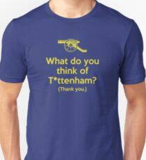 Arsenal - What do you think of T*ttenham? Unisex T-Shirt