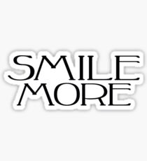 smile more painting mixed media stickers redbubble