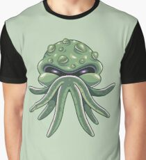 StarSpawn Cute Cthulhu Tentacle Head Graphic T-Shirt