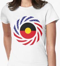 Australian Aboriginal American Multinational Patriot Flag Series Women's Fitted T-Shirt