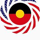 Australian Aboriginal American Multinational Patriot Flag Series by Carbon-Fibre Media