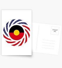 Australian Aboriginal American Multinational Patriot Flag Series Postcards
