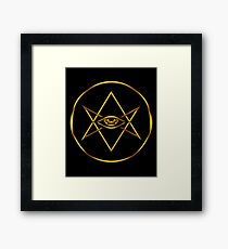 Men of Letters Rogue Cult Symbol Framed Print