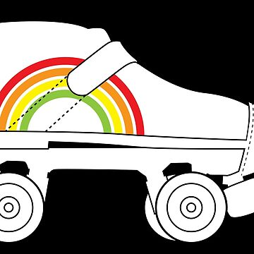 rainbow rollerskate by chromatosis