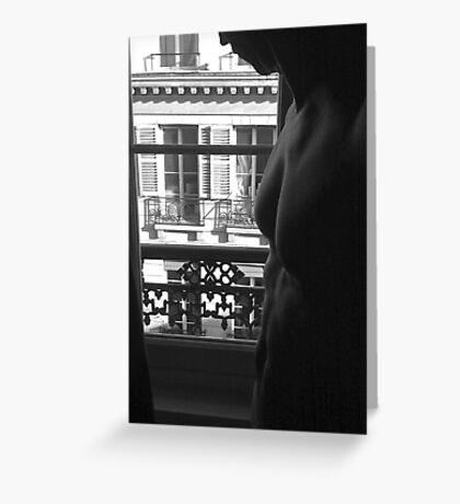 european window PARIS, france Greeting Card