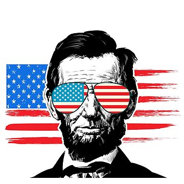Merica Funny President Lincoln Party USA T-shirt by worksaheart