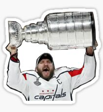 Alex Ovechkin Hoisting the Stanley Cup - Washington Capitals 2018 #8 Sticker