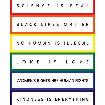 Science is Real Black Lives Matter (Block Rainbow Black design) by BOBSMITHHHHH