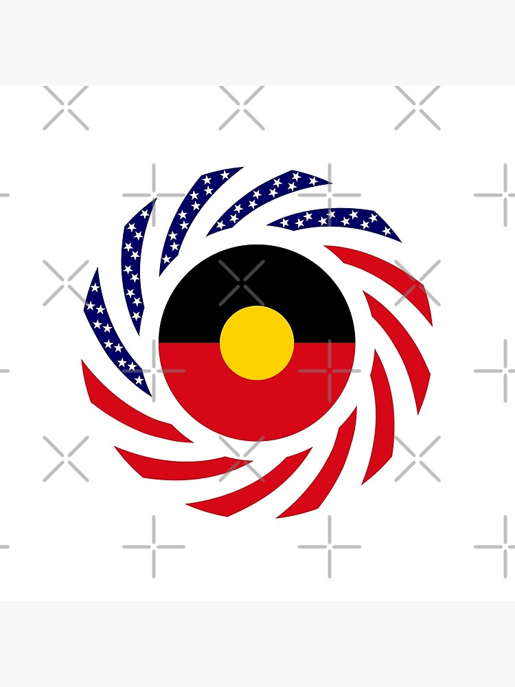 Australian Aboriginal American Multinational Patriot Flag Series by carbonfibreme