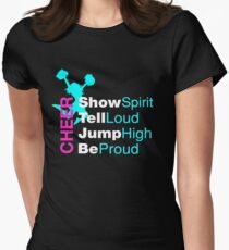 Awesome Cheer Spirit & Proud Cheerleaders Gift Women's Fitted T-Shirt