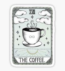 Pegatina El café