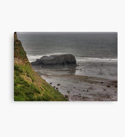 Saltwick Nab - Saltwick Bay. Canvas Print