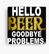 Hello Beer Funny Geek Nerd Canvas Print