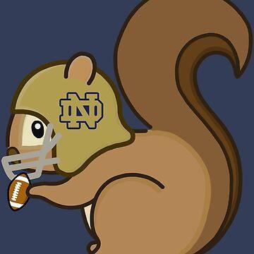 ND Football Squirrel by laurel98