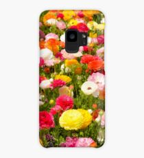 A field of multicolor cultivated Buttercup (Ranunculus) flowers  Case/Skin for Samsung Galaxy