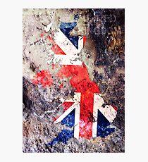 UK Flag Map Fotodruck
