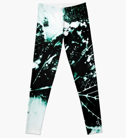 Feuille Charme Turquoise Leggings