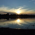The Lake at Sunset by Charmaine Bailey