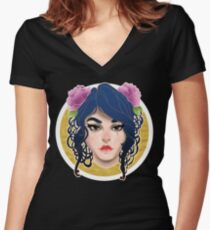 My latest design experiment Women's Fitted V-Neck T-Shirt