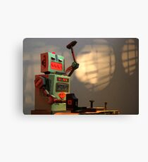 The robots worked. Robots are tired. Canvas Print