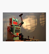 The robots worked. Robots are tired. Photographic Print