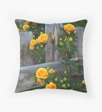 Renegade Roses Throw Pillow