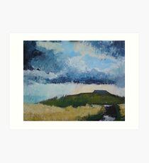 Ingleborough, Yorkshire Dales Art Print