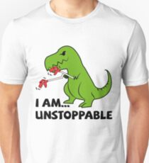 I am unstoppable T-rex Slim Fit T-Shirt