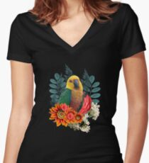 Nature beauty Women's Fitted V-Neck T-Shirt