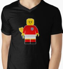 England World Cup 1966 Minifig Men's V-Neck T-Shirt