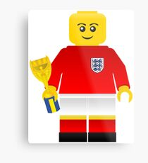 England World Cup 1966 Minifig Metal Print