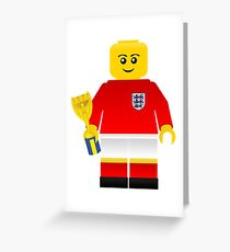England World Cup 1966 Minifig Greeting Card