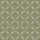 Azulejo Floral Pattern by Andrea Mazzocchetti