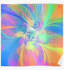 Abstract color mix Poster