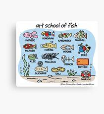 art school of fish Canvas Print