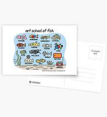 Kunstschule für Fisch Postkarten