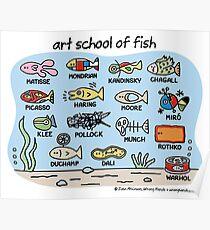 Kunstschule für Fisch Poster