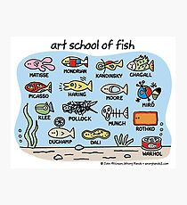 art school of fish Photographic Print